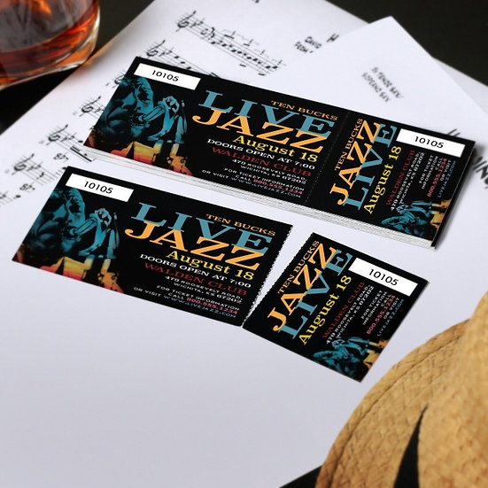 FULL COLOR GLOSS TICKETS 2 X 7