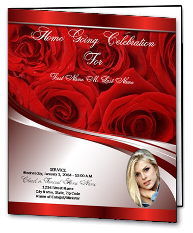 FUNERAL PROGRAM 4 PAGES  7 X 8.5 MIN. 50