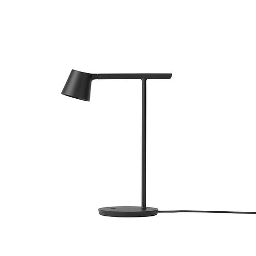 schwarze Muuto Tip Table Lamp, Seitenansicht