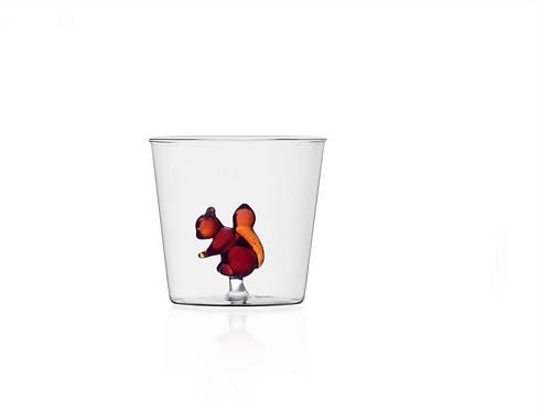 Glas mit braunem Glaseichhörnchen von Ichendorf Milano