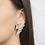 Ohrringe Fragments, gold, Ohrringe 3D gedruckt, 3D gedruckter Schmuck, 3D gedruckte Ohrringe