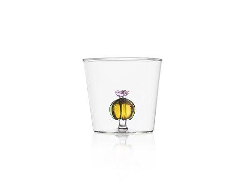 Glas mit Blüte