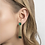 Ohrringe Loft, schwarz, Ohrringe 3D gedruckt, 3D gedruckter Schmuck, 3D gedruckte Ohrringe