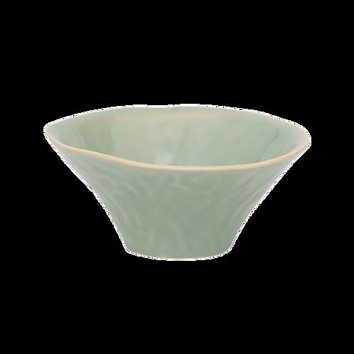 grüne Keramikschale, Vorderansicht