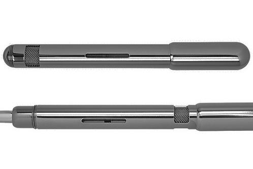 Electa Füller von Loclen in schwarz chrom, Vorderansicht