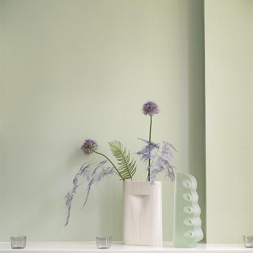 Vase Ridge Weiß