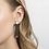 Ohrringe Loft, gold, Ohrringe 3D gedruckt, 3D gedruckter Schmuck, 3D gedruckte Ohrringe