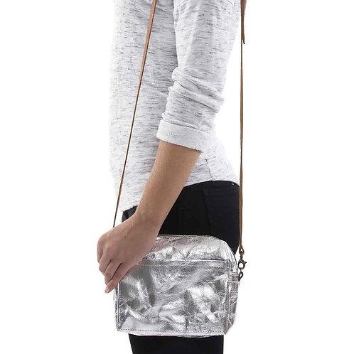 metallic silberne Tasche