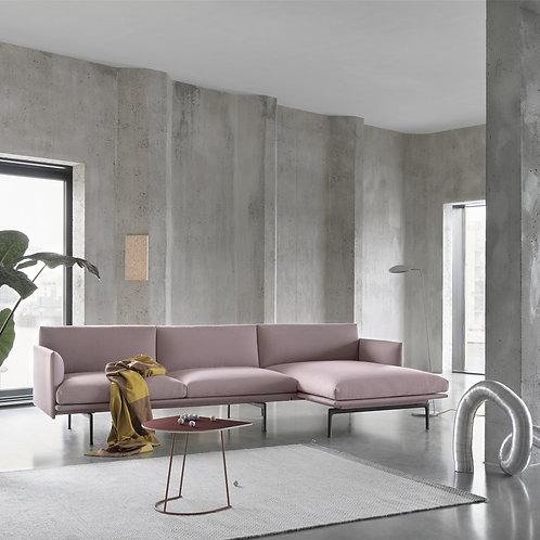 Muuto Outline Sofa mit Chaise Longue