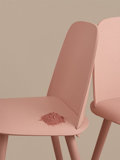 rosafarbener Muuto Nerd Chair, Detailausschnitt