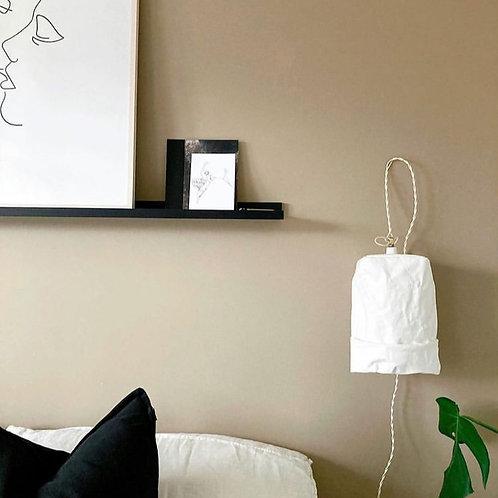 UASHMAMA weiße, kleine Hängelampe aus waschbarem Papier