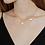 Thumbnail: Audrey Halskette mit Süßwasserperlen vergoldet / versilbert