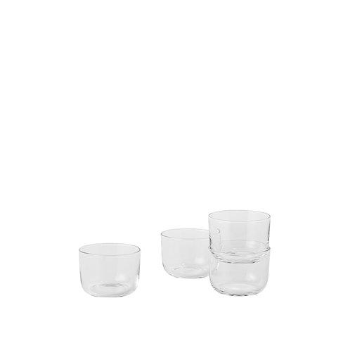 Klar Glas Corky Glasses von Muuto, Vorderansicht