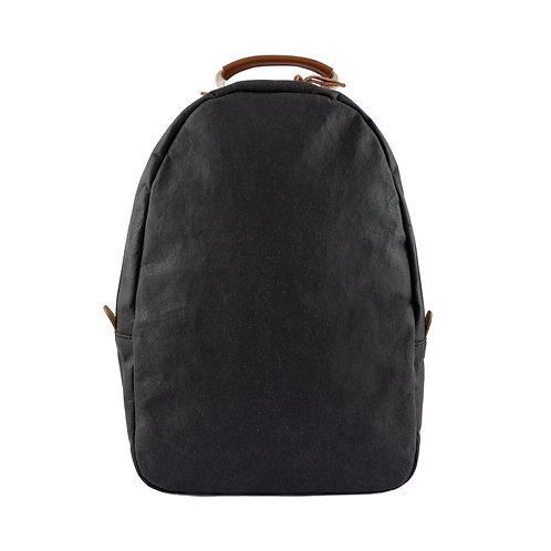schwarzer Rucksack Memmo, Vorderansicht