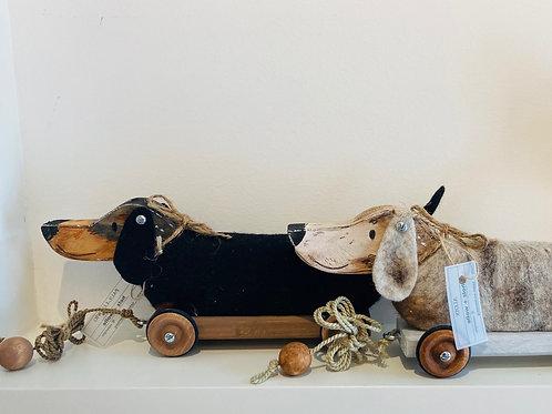 Ziedackel Spielzeug aus Holz und Wolle