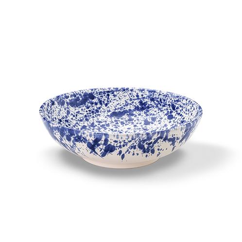 Schale aus Keramik in weiß mit blauen Punkten