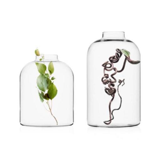 Glasvase Endicot, Ichendorf Milano, Glasvase, schöne Glasvase, reduzierte Glasvase