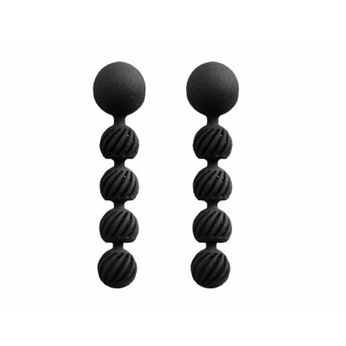 Ohrringe Bearing II,schwarz, Ohrringe 3D gedruckt, 3D gedruckter Schmuck, 3D gedruckte Ohrringe, Maison 203
