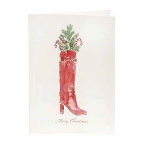 Christmas Bootie Weihnachtskarte