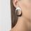 Ohrringe Flow, Ohrringe 3D gedruckt, 3D gedruckter Schmuck, 3D gedruckte Ohrringe
