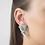 Ohrringe Fragments, silber, Ohrringe 3D gedruckt, 3D gedruckter Schmuck, 3D gedruckte Ohrringe