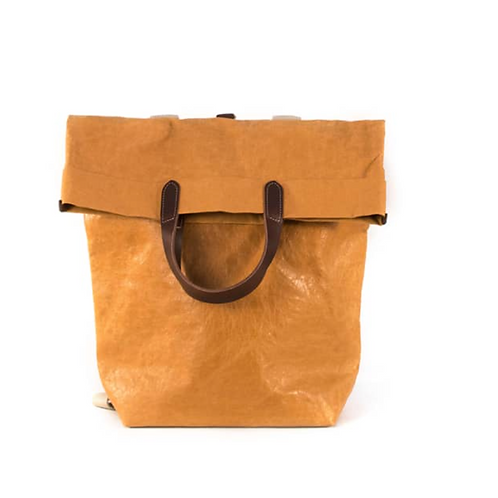 Pia Bag Rucksack aus waschbarem Papier Camel