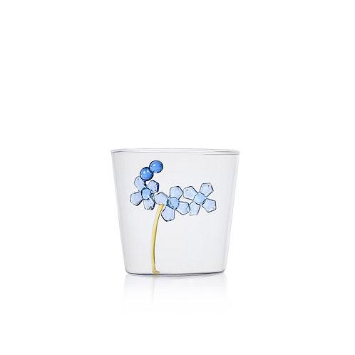 Glas mit blauer Blüte auf der Aussenseite von Ichendorf Milano