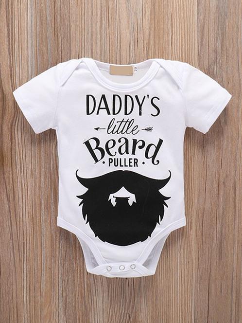 f3444f29e 'Daddy's little beard puller' Romper