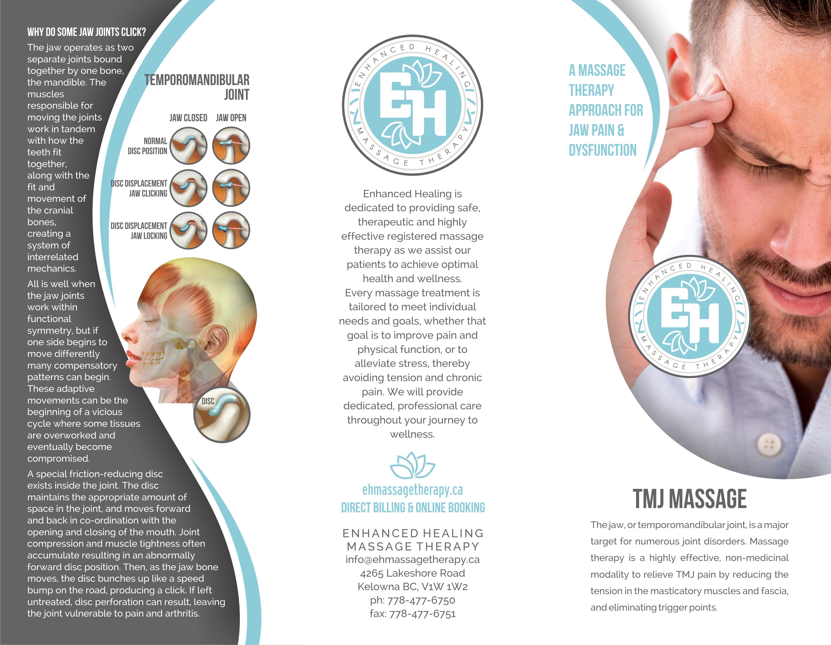 TMJ Dysfunction brochure (outside)