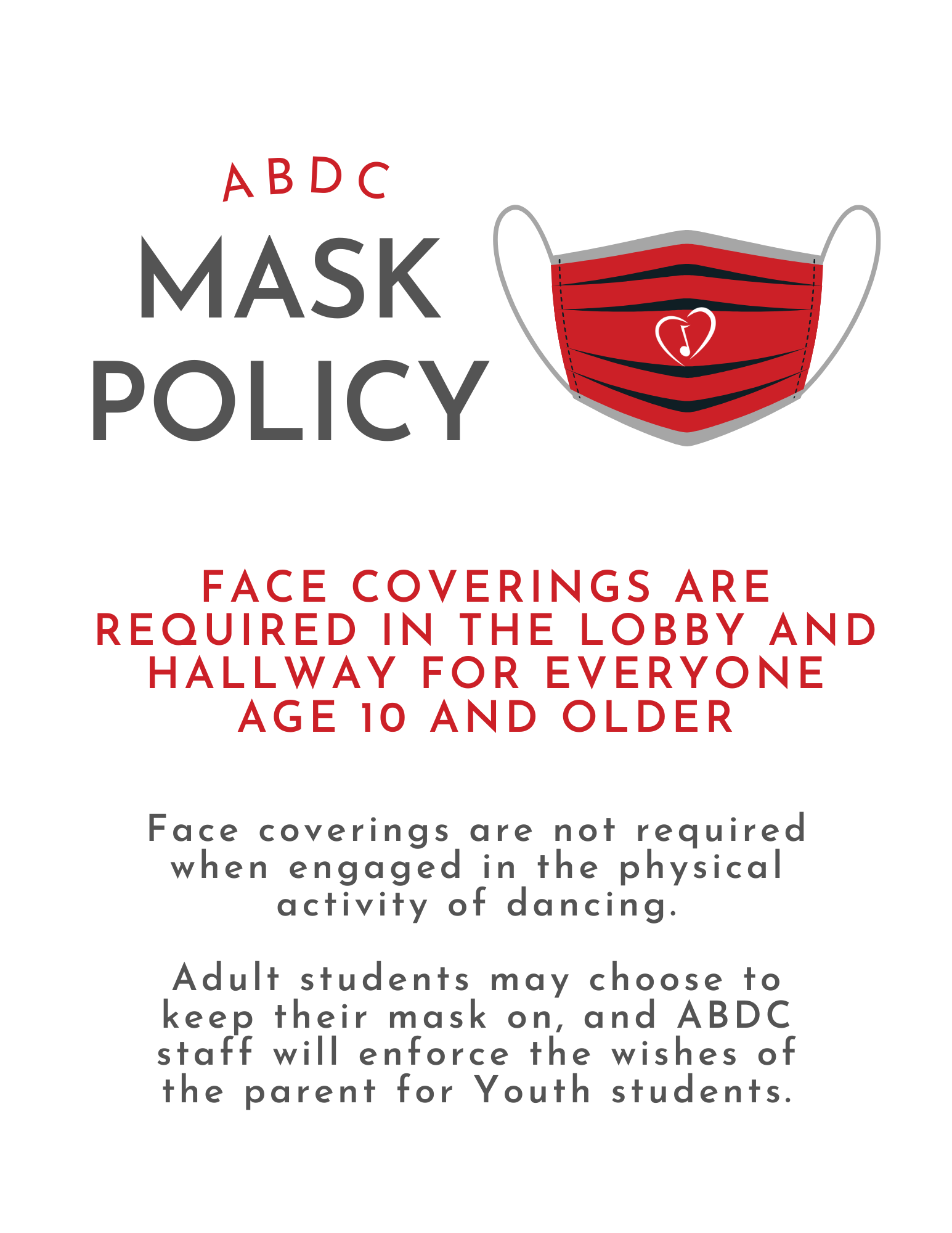 abdc mask policy
