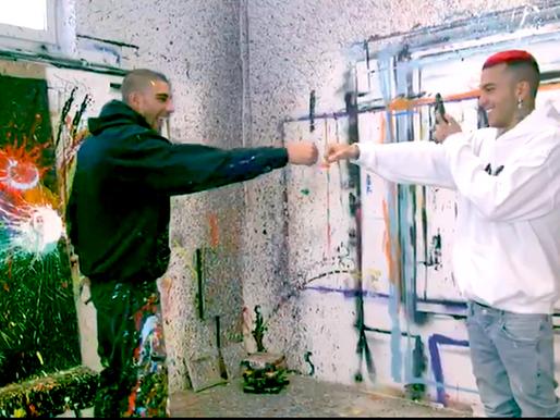 """Omar Hassan pubblica un video con Sfera Ebbasta:""""Senza la musica e l'arte non c'è salvezza""""."""