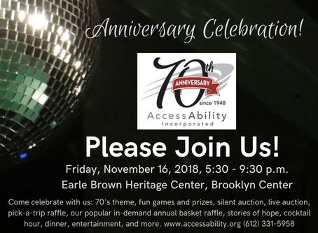 2018 Marks AccessAbility's 70th Year Serving the Community
