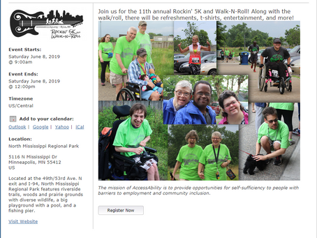 Resolve to Join Us for our 11th Annual Rockin' 5K and Walk-N-Roll