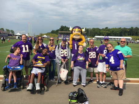 A Special Fieldtrip to the Minnesota Vikings Training Camp