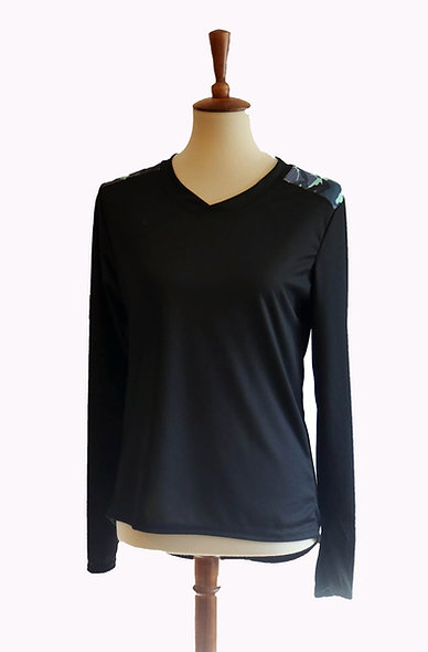 Enduro Jersey Black N Blue Camo
