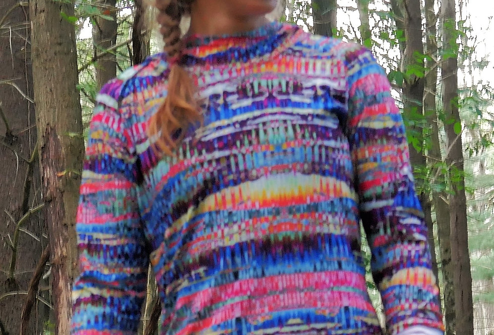Trippy Stripes Pullover Jersey with HOod