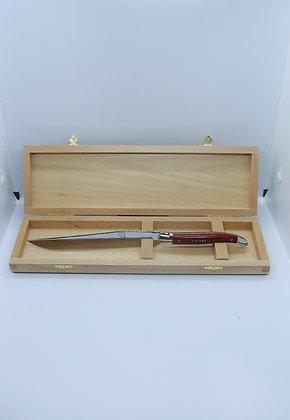 Couteau à découper - inox et tissu compressé