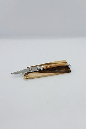 Couteau 9 cm - Inox Brillant - Bois Massif