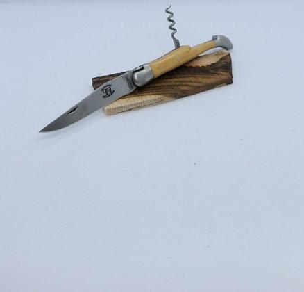 Couteau 2 pièces 12 cm - inox satiné et bois massif