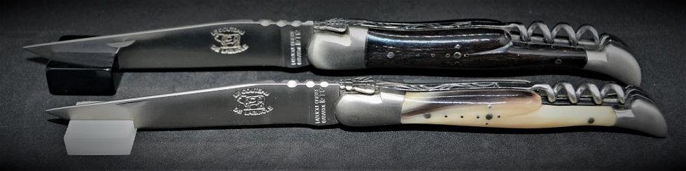 Couteau 2 pièces - pointe de corne - inox