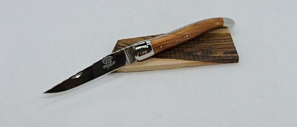 Couteau 12 cm  - inox brillant et bois massif