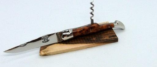 Couteau 2 pièces 12 cm - inox brillant et bois massif