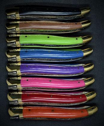 Couteau 1 pièce - tissu compressé -laiton