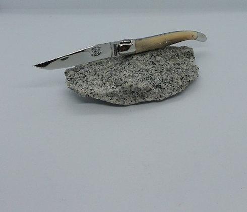 Couteau 12cm - inox et pointe de corne