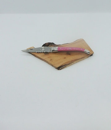 Couteau 9cm - inox et tissu compressé