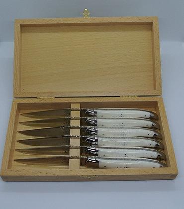 Coffret de 6 couteaux de table en OS