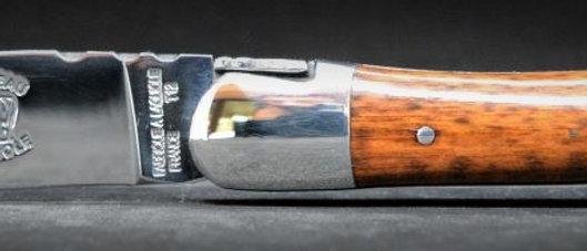 Couteau 1 pièce - bois massif - inox brillant