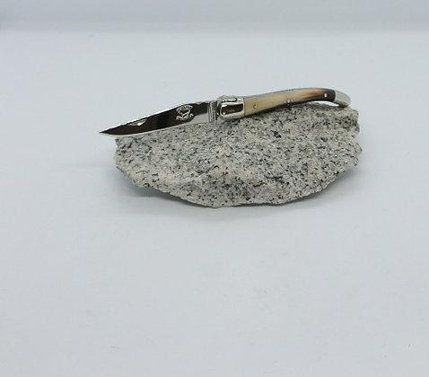 Couteau 9 cm - inox et pointe de corne