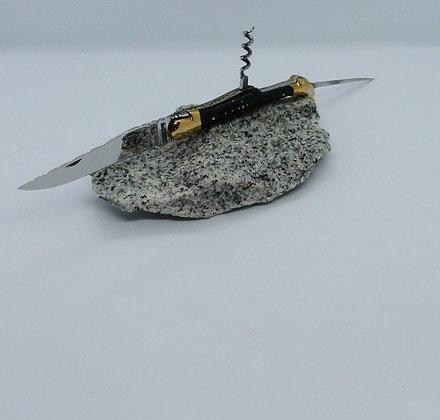 Couteau 3 pièces 12 cm - pointe de corne