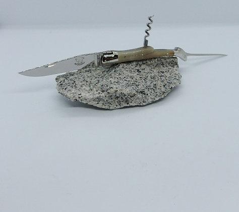 Couteau 3 pièces 12 cm - inox et pointe de corne